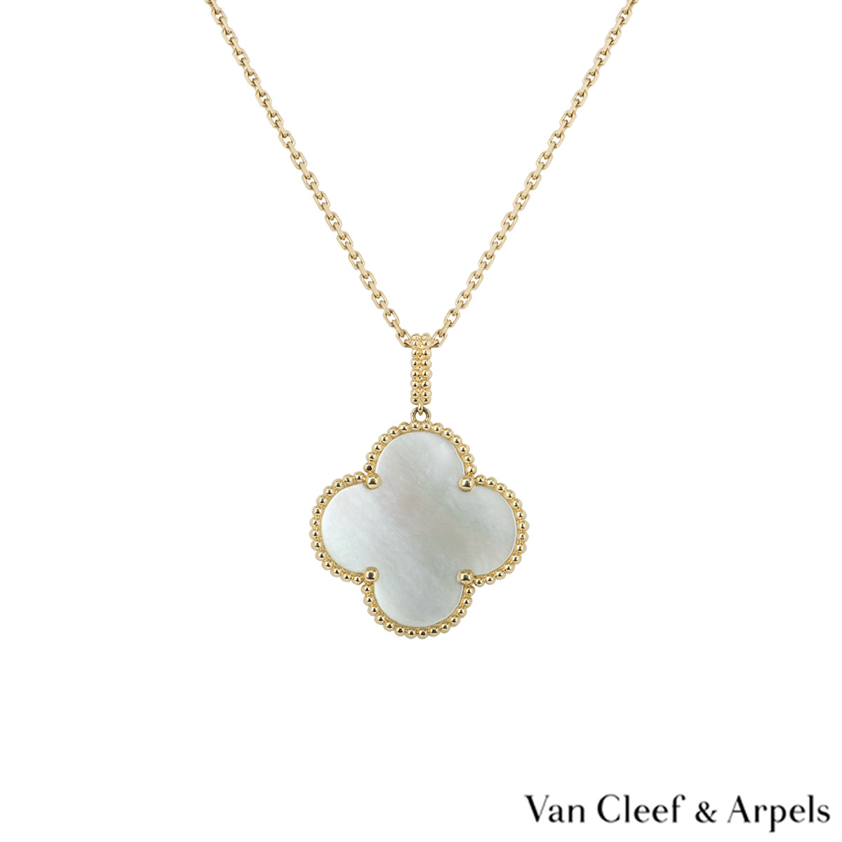 Van Cleef & Arpels Yellow Gold Pearl Magic Alhambra Necklace VCARO49L00